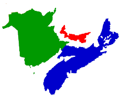 map of Maritimes